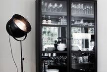 Black cabinet
