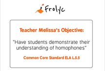 Teacher Created Common Core Aligned Activities  / Teacher created Common Core aligned activities authored on Frolyc and published to student iPad(s) in real-time.