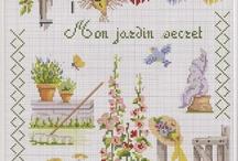 Cross stitch - garden
