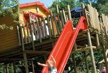 Vakantiepark Dierenbos  / Op het vakantiepark Dierenbos zijn door SICURO verschillende speelgelegenheden gecreëerd. Op dit moodboard vind u enkele voorbeelden.