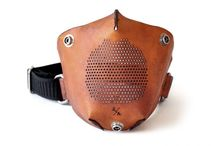 leather motorcycle mask