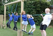 Fitness playground equipment / All these pieces of playground equipment combine play with fitness, helping to keep children fit and healthy