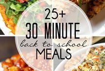 25 and 30 minute back to school meals.  Look good