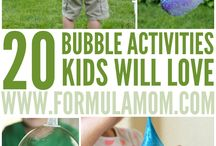 Summer Bubble Sensory Fun
