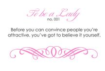to be a lady
