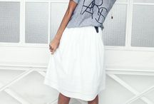 wardrobe midk skirt white or light blue