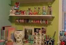 My walk in closet craft room / by Marianne Reddix