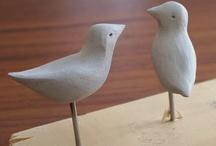 Vogels En Vissen uit hout handvaardigheid