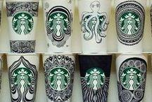 Starbucks paper cup art