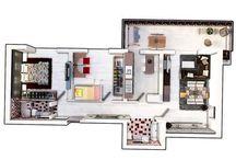Apartamente 3 camere / Apartamente 3 camere cu gradina sau terasa