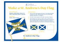 St. Andrew's Day / St. Andrew is the patron saint of Scotland. Celebrate St. Andrew's Day by decorating our greetings card and our colouring in templates! / by iChild.co.uk
