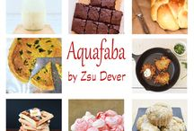 Aquafaba / Recipes using aquafaba, from my cookbook, Aquafaba, or my blog, Zsu's Vegan Pantry