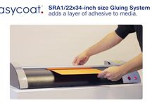 Easycoat Gluing System & Easyguide Media Tray