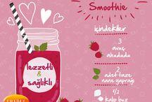 Shapes Smoothies / Birbirinden leziz, farklı, muhteşem meyvelerle yapabileceğiniz harika smoothies tarifleri #smoothies
