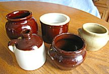 Stoneware - Antique - Vintage - Collectible / Great antique, vintage and collectible stoneware vessels, some for use, some for display.  / by More Than McCoy