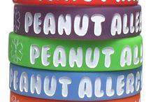 Peanut Allergy Medical Alert Bracelet / Medical alert bracelets for kids with a peanut allergy.