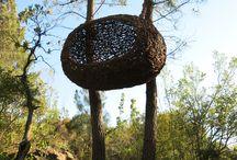 Environmental art, installations, sculpture