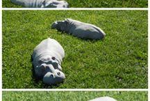 animales para decorar el jardín