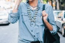 Jeans and collared shirt