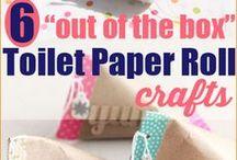 ideias com rolos de papel higienico