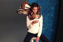 Merve Bayindir for Aker / Merve Bayindir created a custom made piece using Aker's own shawls for promotional photo-shoot with Sara Sampaio
