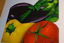 tela frutas e legumes