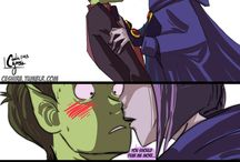 Raven and Beastboy, Starfire and robin