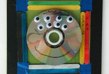 Teaching Artist / CD portraits - recycled material.