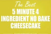 5 minute cheesecakes