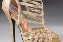 Golden wedges sandals