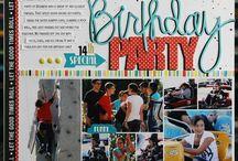 Birthday layouts / by Carmen Graham