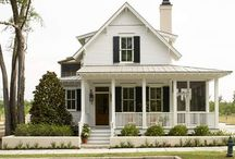 Custom dream house plans / Farmhouse style, cottage, victorian / by Andrea Strawther