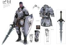 Guerreros y armaduras