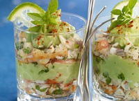 verrine avocat et chair de crabe
