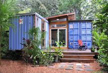 Shipping containers living space / New kind of home using recycled shipping container.