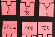 Mathematics-Fractions, decimal, percentages / by Laura-Lee Jellard