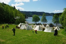 Viking/Saxon tents and camping