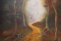 Obrazy má tvorba / Většinou obrazy malované akrylem nebo olejem, většinou na plátno.
