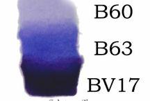COPICS: BLUES / Copic Marker Color Combinations
