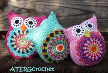 crochet toys / They are so sweet,  cute and lovely