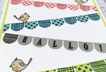 Pick A Pennant / Banner Wimpel Stampin' Up!