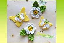 Crochet: Flowers-leaves-butterflies