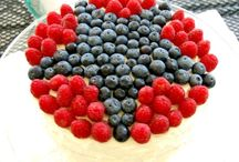 Red, White & Blue / Celebrate the 4th of July, Memorial Day and Labor Day with these Patriotic Desserts!  Inspiring desserts in red, white & blue. / by The Cake Blog