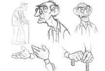 Old Man Character Design