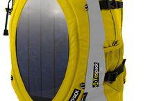 Solar power / Solar power, bags, renewable energy, sailing, skiing, climbing, Techfasion