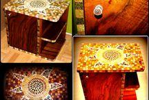 Mosaic design / Handmade mosaic design furniture, accessories, wall art, etc.  Rekredenc Mosaic & Design http://rekredenc.hu/  www.facebook.com/rekredenc
