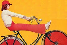 Vintage Cycling Style / Stylin' vintage ladies and gents on bikes / by Velour Vintage Clothing