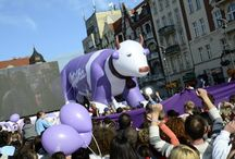 Milka party in Bytom, Poland