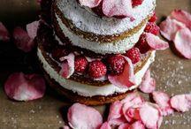 Rozen taart en pudding