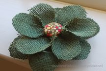 burlap flowers for wreaths